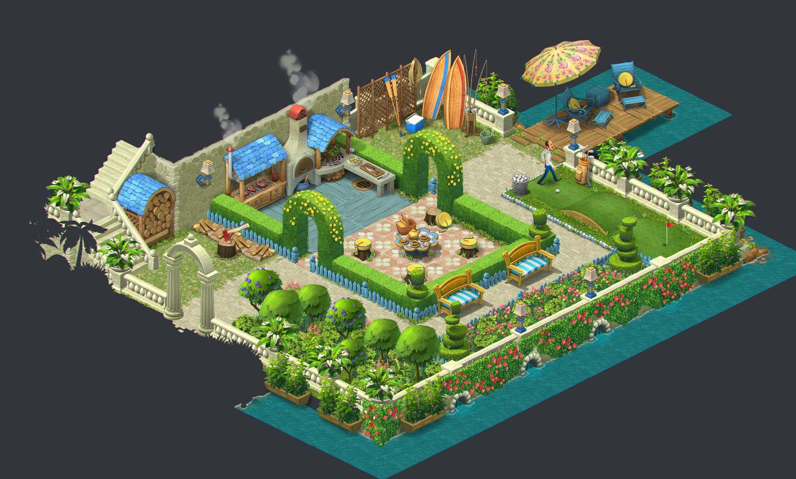 Artstation Gardenscapes New Acres Artdump Ilya Shigin Pinterest Game 2d 2d