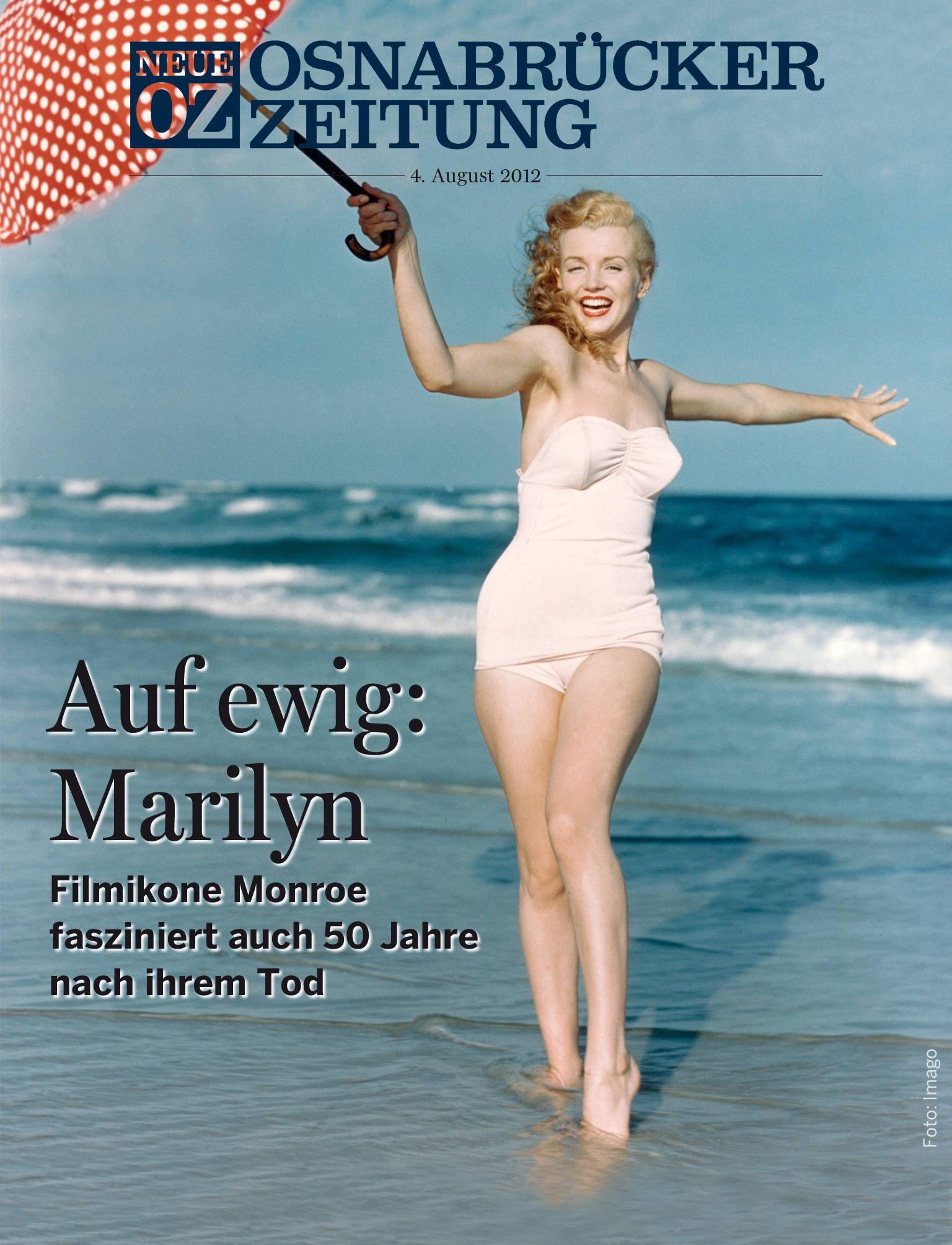 Unser Titelthema für die App am Samstag, 4. August, beschäftigt sich mit dem 50. Todestag von Marilyn Monroe.