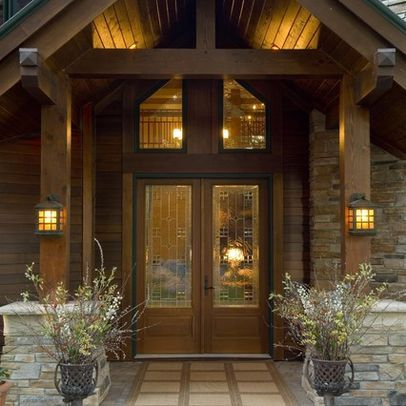 Post and beam front entry design ideas pictures remodel for Open beam front porch