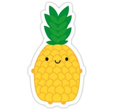 'Kawaii Pineapple' Sticker by Marceline Smith