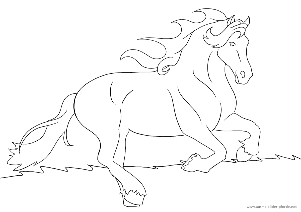 Ausmalbild Mit Pferd Nr 8 Horse Crafts Preschool Coloring Pages Coloring Pages