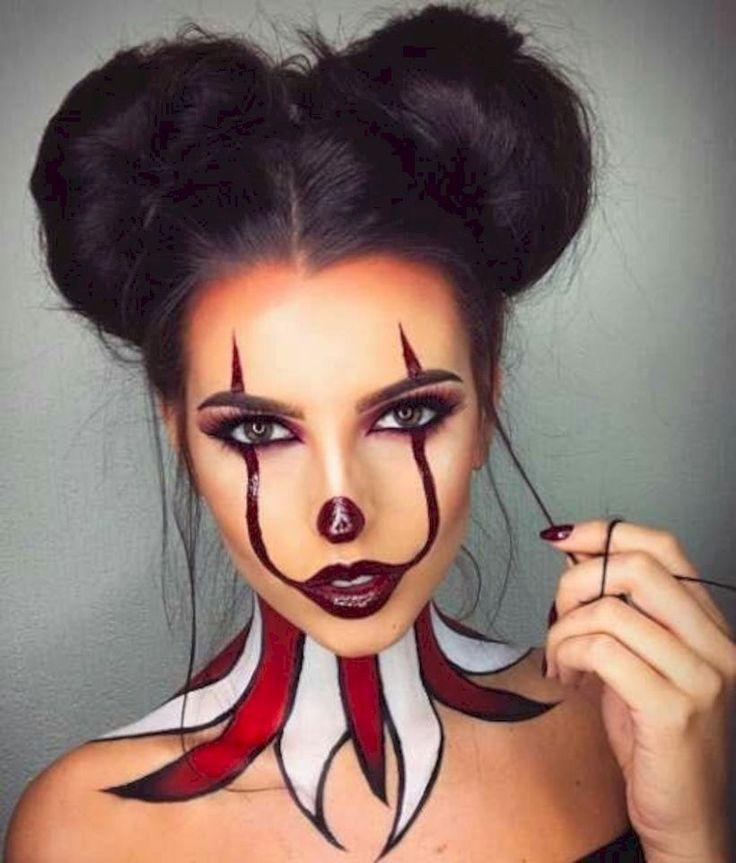 Ziemlich beängstigend Halloween Makeup Ideen, die Sie sehen müssen 39