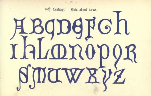 11 Beautiful Alphabets from Ancient and Medieval Times: 14th