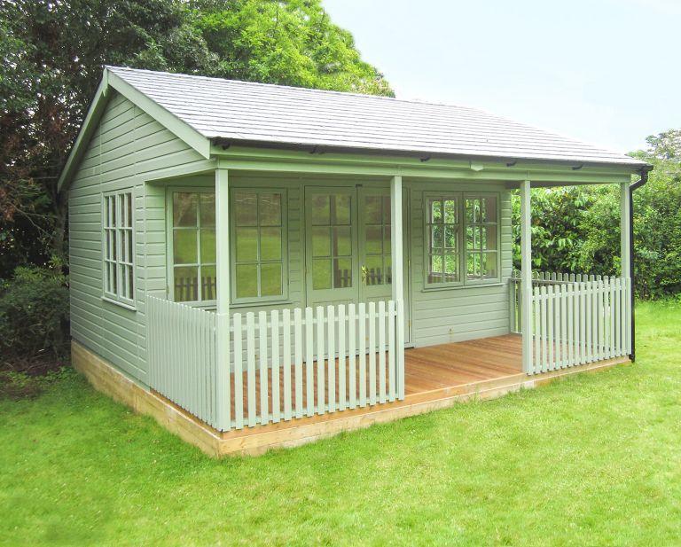 54 x 48m garden room with veranda - Garden Sheds With Veranda
