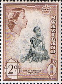 Swaziland 1961 Swazi Woman Fine Mint SG 80 Scott 44 Other Swaziland and British Commonwealth Stamps HERE!