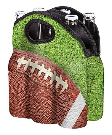 Look what I found on #zulily! Football Six Pack Bottle Tote #zulilyfinds