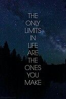 You limit yourself