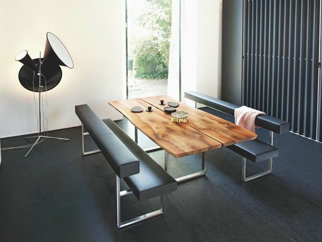10 Unexpected Combinations Between Modern Chairs And Country Tables Modern Bench Dining Table Wood Dining Table Modern Dining Table With Bench