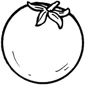 tomato | Coloring pages, Fruit coloring pages, Printable ...