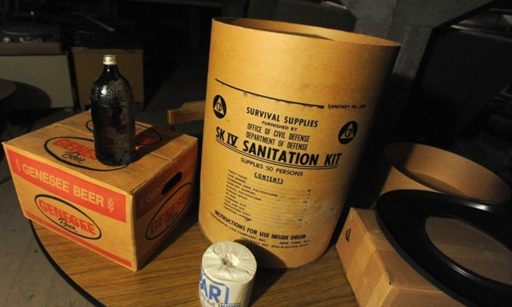 The Nuclear Bomb Survival Kit Made Of Beer And Candy School Discovers Cold War Shelter In Its Basement Survival Survival Supplies Nuclear Bomb