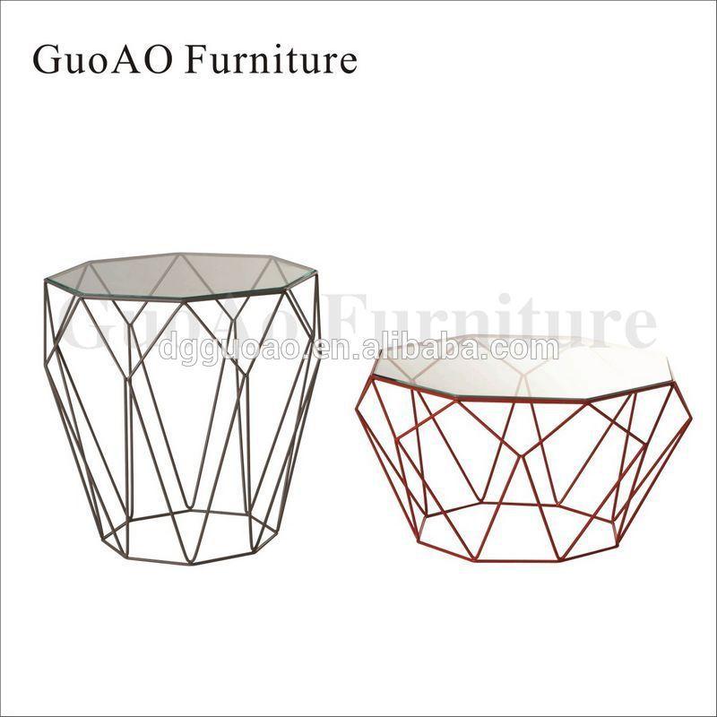 New Design Modern Metal Wire Diamond Bar Table View Diamond - Diamond bar table