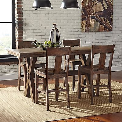 Dining Tables Counter Height Xl Distressed Wood Trestle
