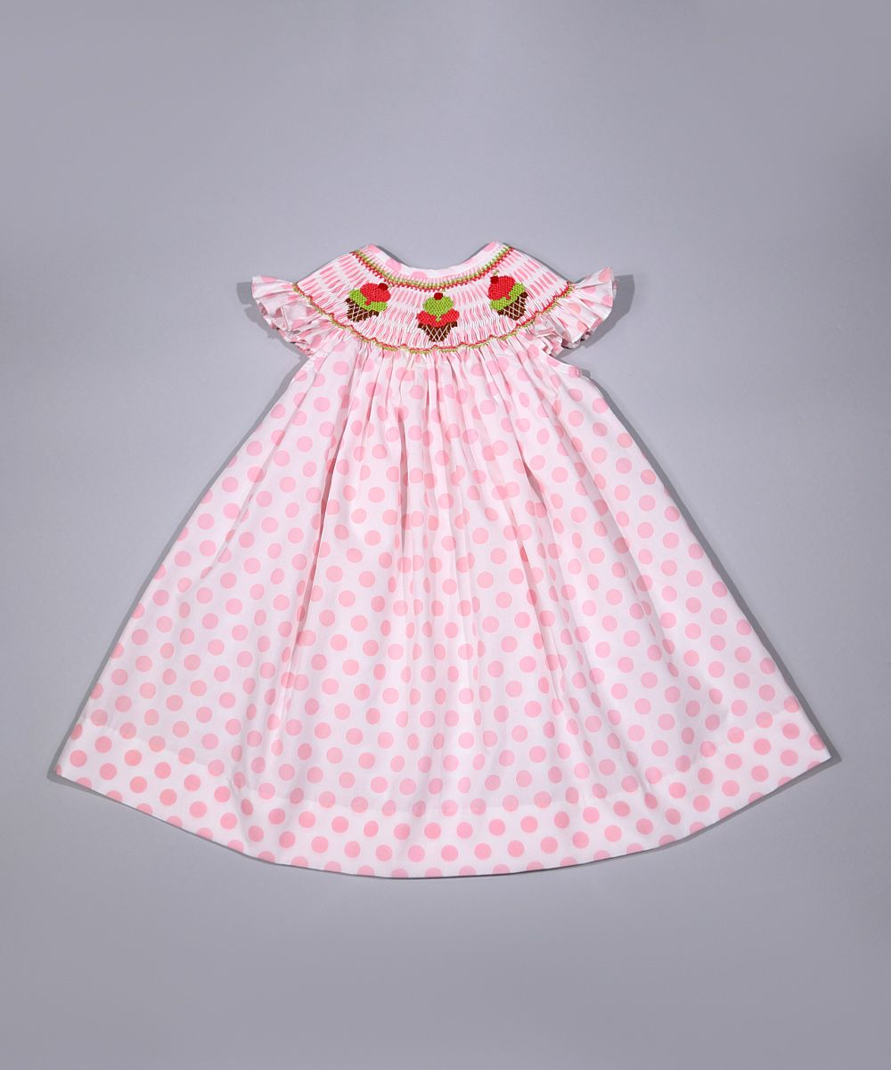 Pink dress baby  Pink Ice Cream Smocked Dress  Infant u Toddler  Products