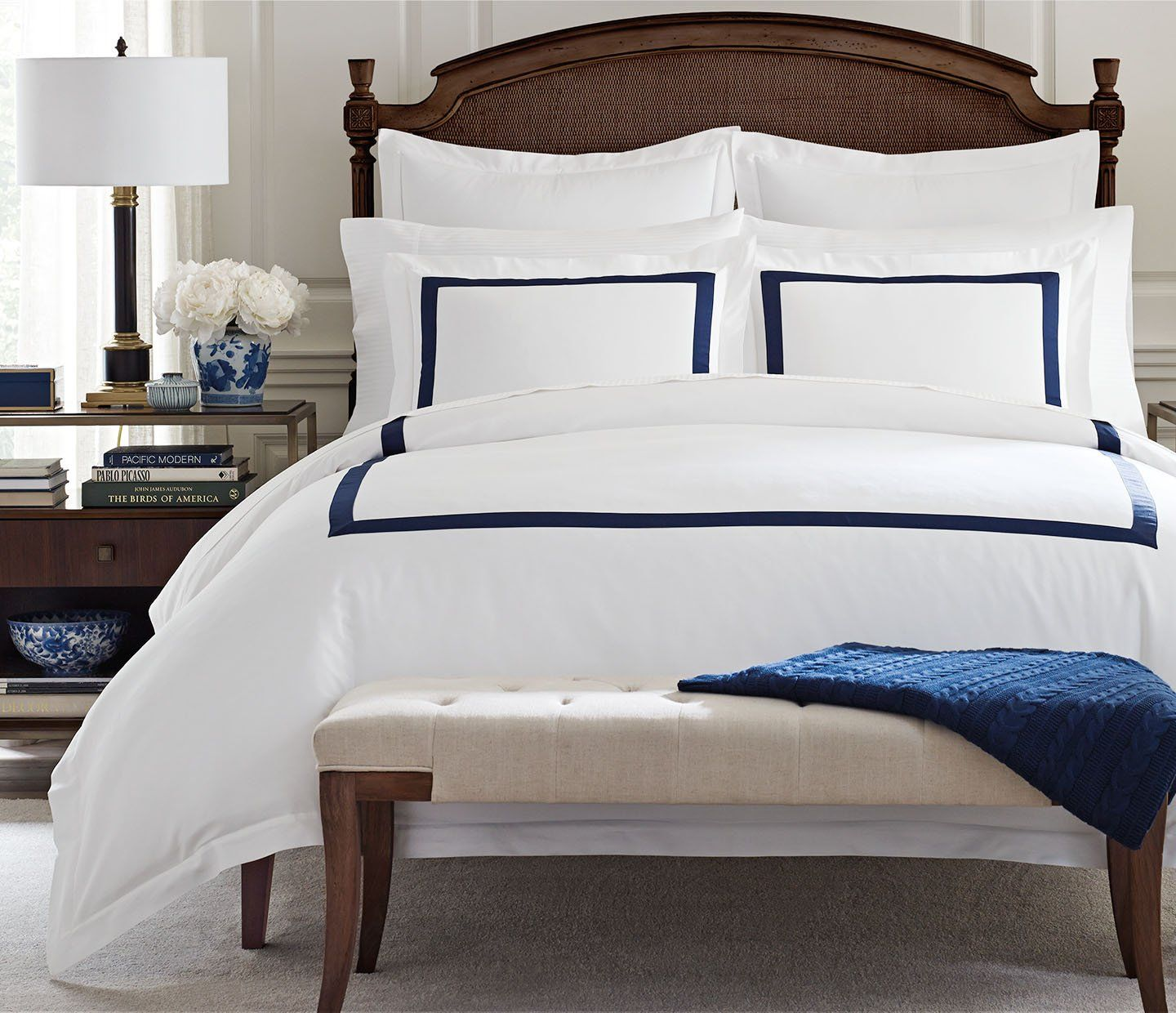 Modern Banded Duvet Covers in Dual Colors by Boll & Branch