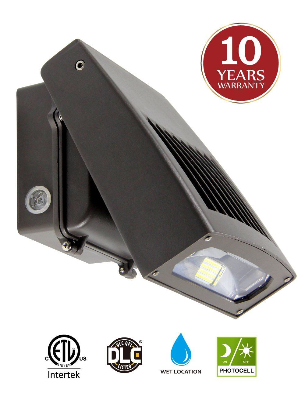 30w Led Wall Pack Light With Dusk To Dawn Photocell 0 90 Adjule Head Waterproof Outdoor Lighting Fixture 150 250w Hps Hid Replacement 5000k 3300lm