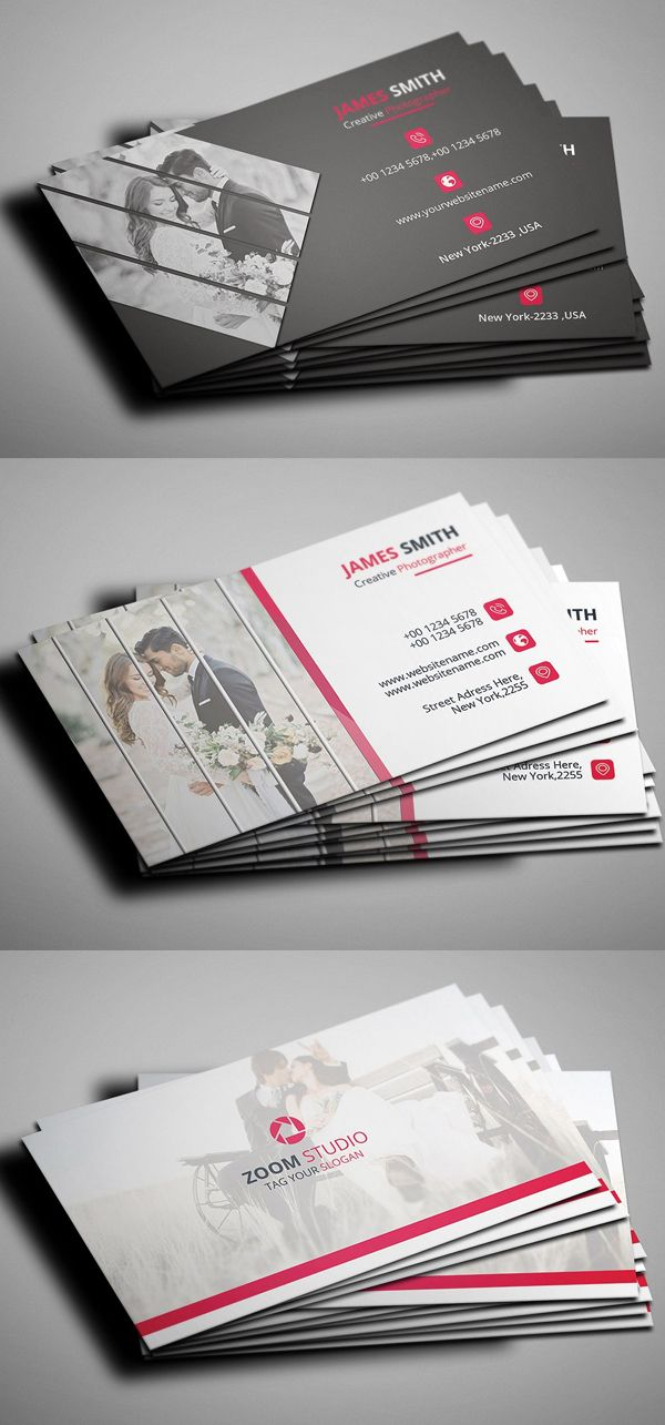 Photography Business Card PSD Template #branding #businesscard ...
