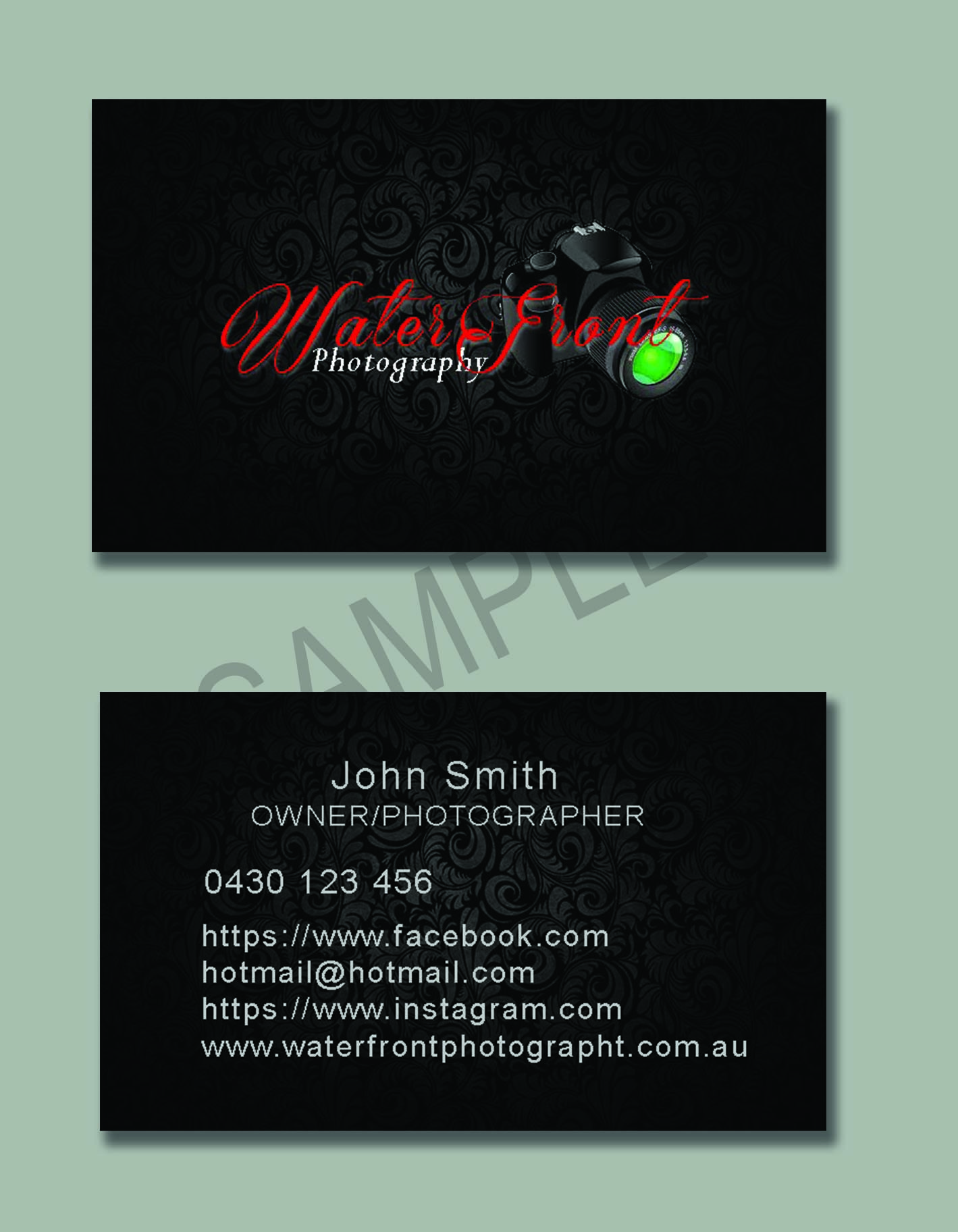 Business card sample 8 which is for sale all details can be changed ...