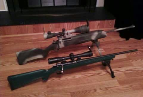 German Mauser K98K 8mm Sporterized Sniper Rifle and Spanish Mauser