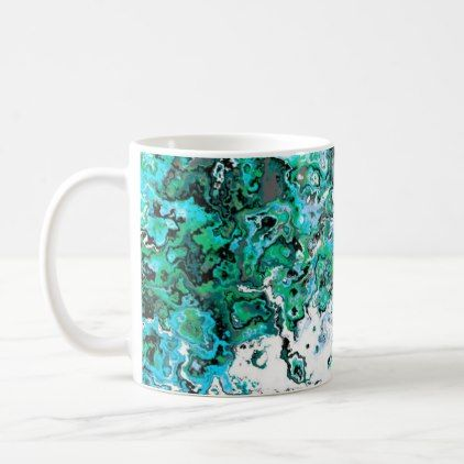 #Floral Green Swirl Designer Mug - #floral #gifts #flower #flowers