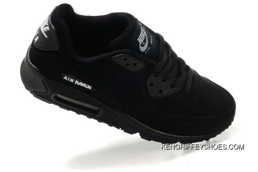 Mens Nike Air Max 90 Shoes All Black bf05ae15fdb5