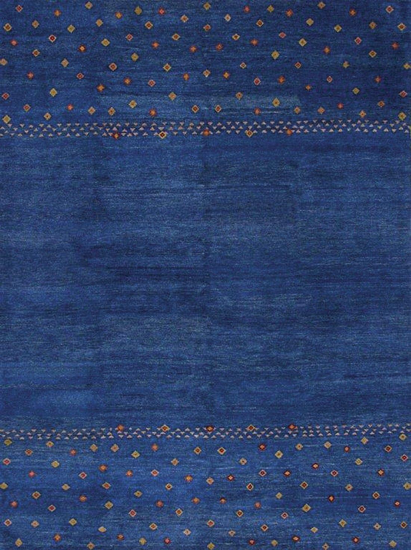 Gabbeh Tribal Blue Wool Rug 13203