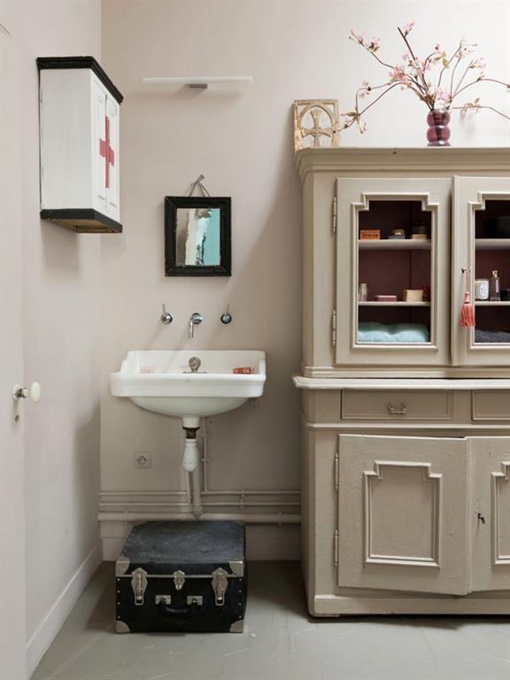 Vintage style bathroom salle de bain au style vintage bathroom zoom sur - Salle de bain style retro ...