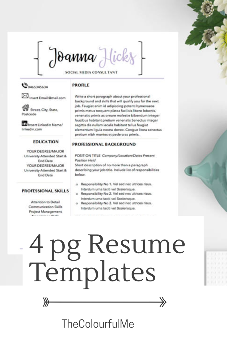 cv design, modern resume template, professional resume, resume