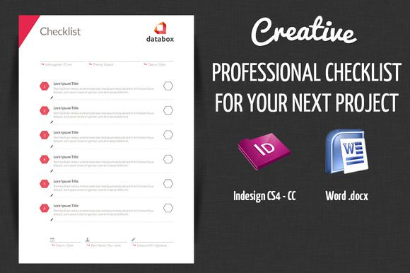 Check Out Professional Project Checklist By Offi On Creative