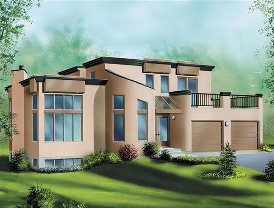 Modern Cob House | Contemporary house plans by Alan Mascord Design ...