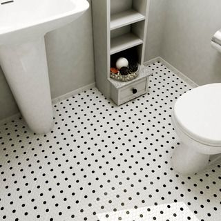 Somertile 125X125In Spiral 1X2In Whiteblack Porcelain Mosaic Impressive Black And White Mosaic Tile Bathroom Decorating Inspiration