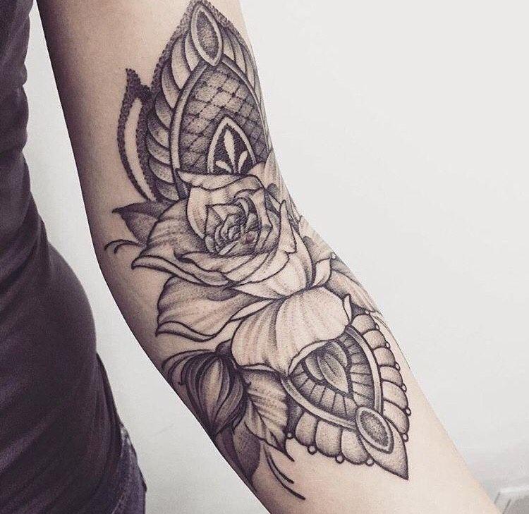 Inner Elbow Mandala Tattoo: 20 Inner Elbow Tattoo Ideas
