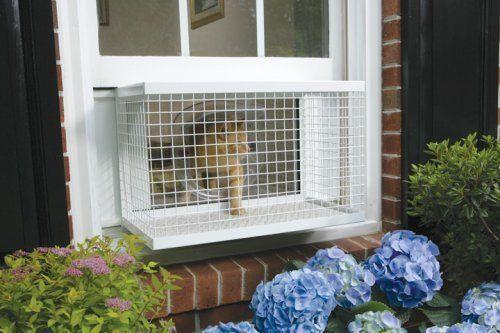 New Petsafe Staywell Cat Window Box Mount Veranda With Locking Door Cat Window Cat Cages Cat Diy