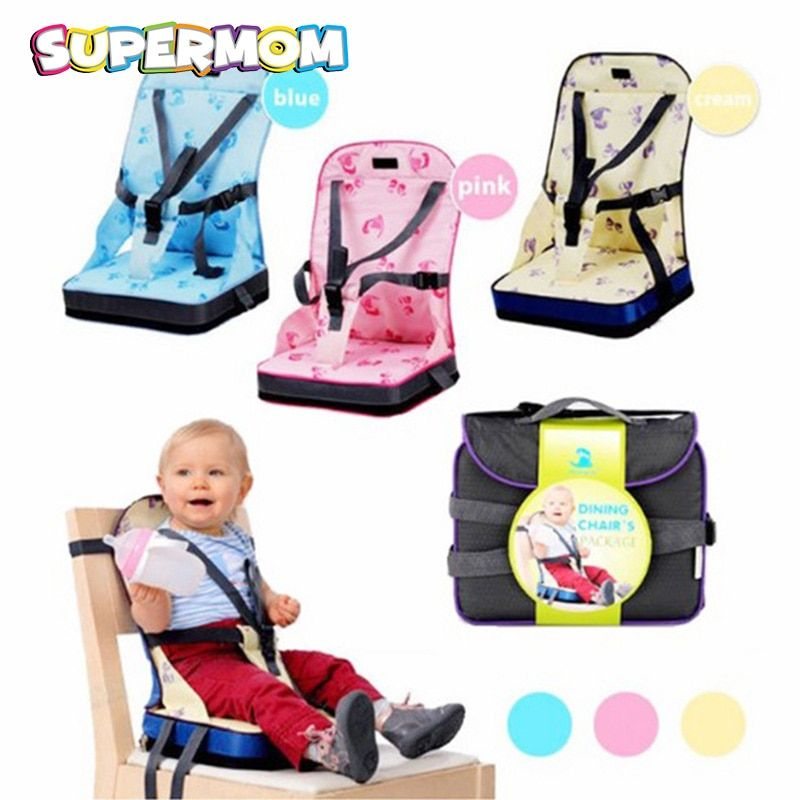 Baby Portable Seat With Safety Belt Feeding High Chair Baby