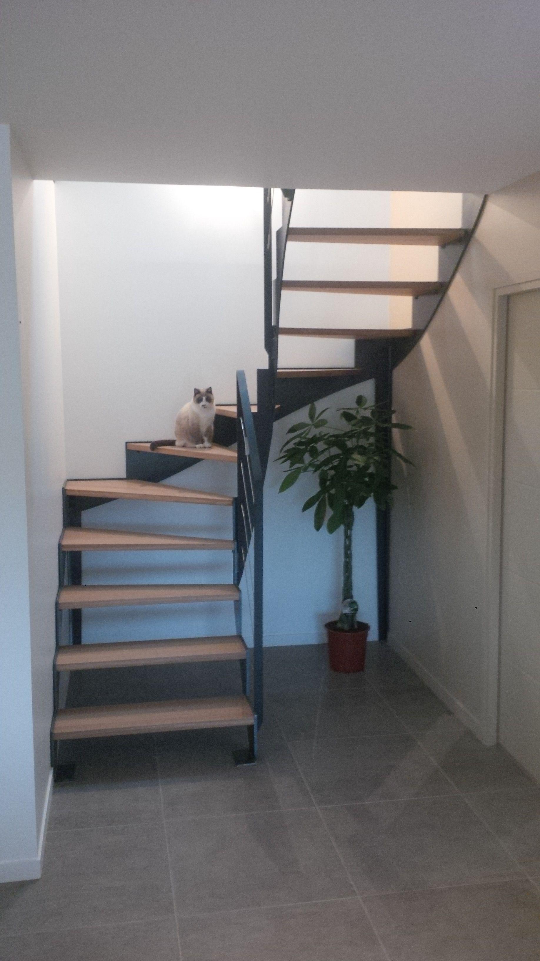 Escalier Design 2 4 Tournant Marches Bois Idees Escalier