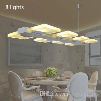 Italy Dining Room Novelty Lighting Modern Led Pendant Lamp Luminaria Acryl Lights Coffee Bar Kitchen Indoor