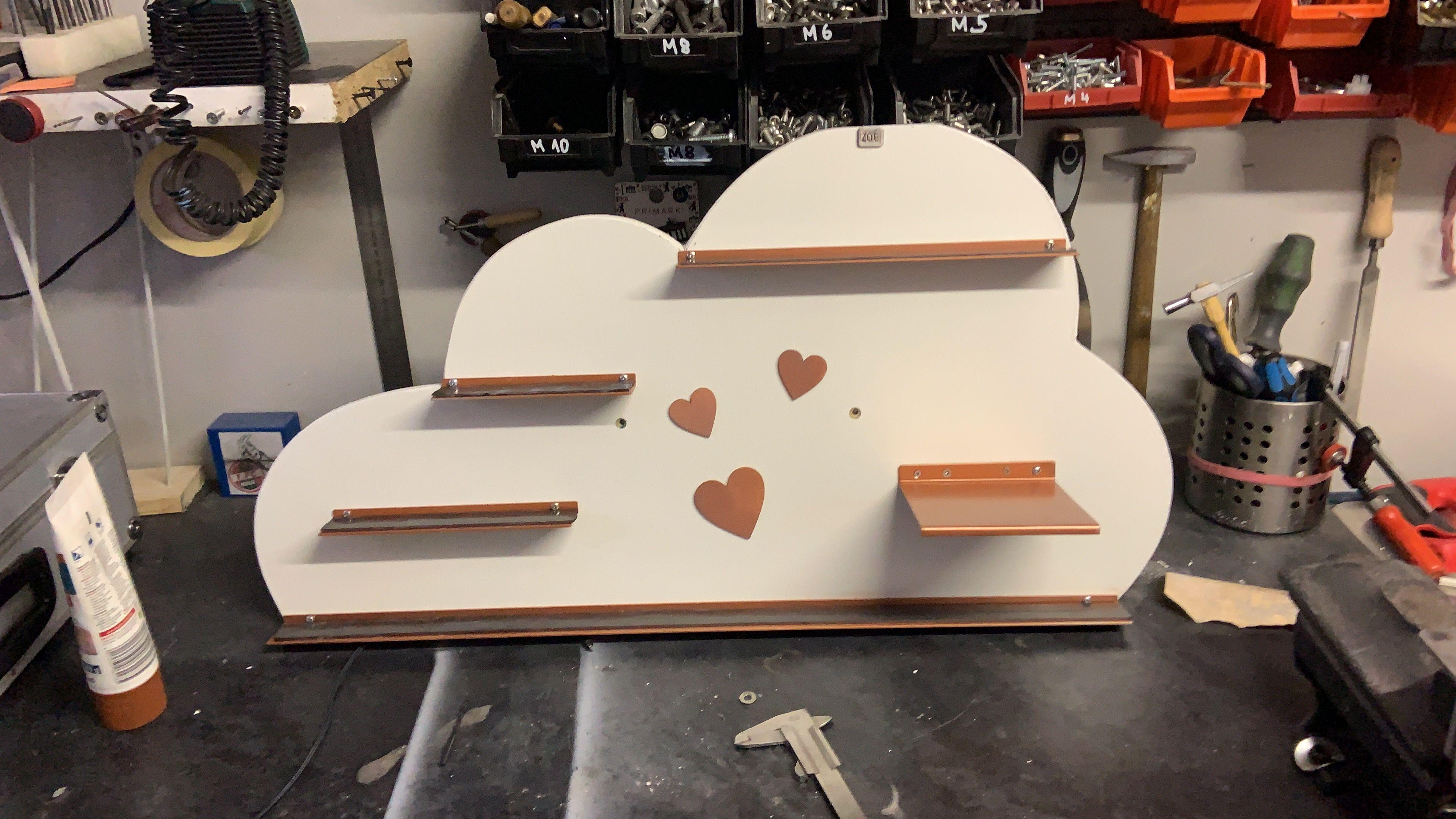 Toniebox Regal Wolke für meine Tochter selber gebaut #tonie#figuren