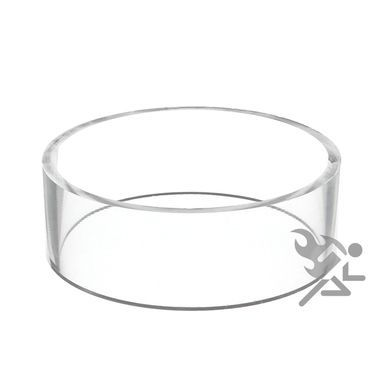 40 X 40 Clear Acrylic Straight Edge Display Stand Ring Products Simple Football Display Stand Plastic