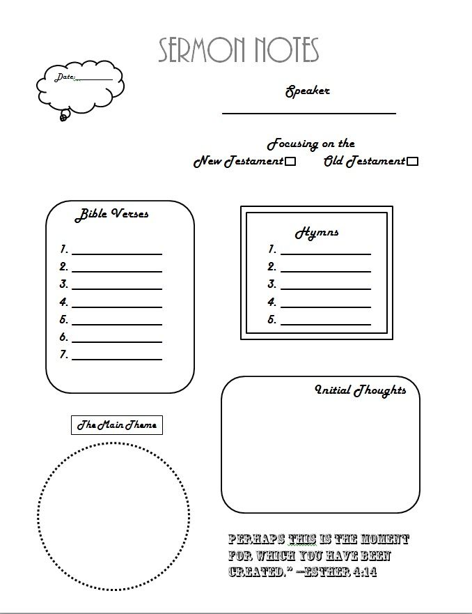 Introduction + FREE Adult Sermon Notes Printable ...