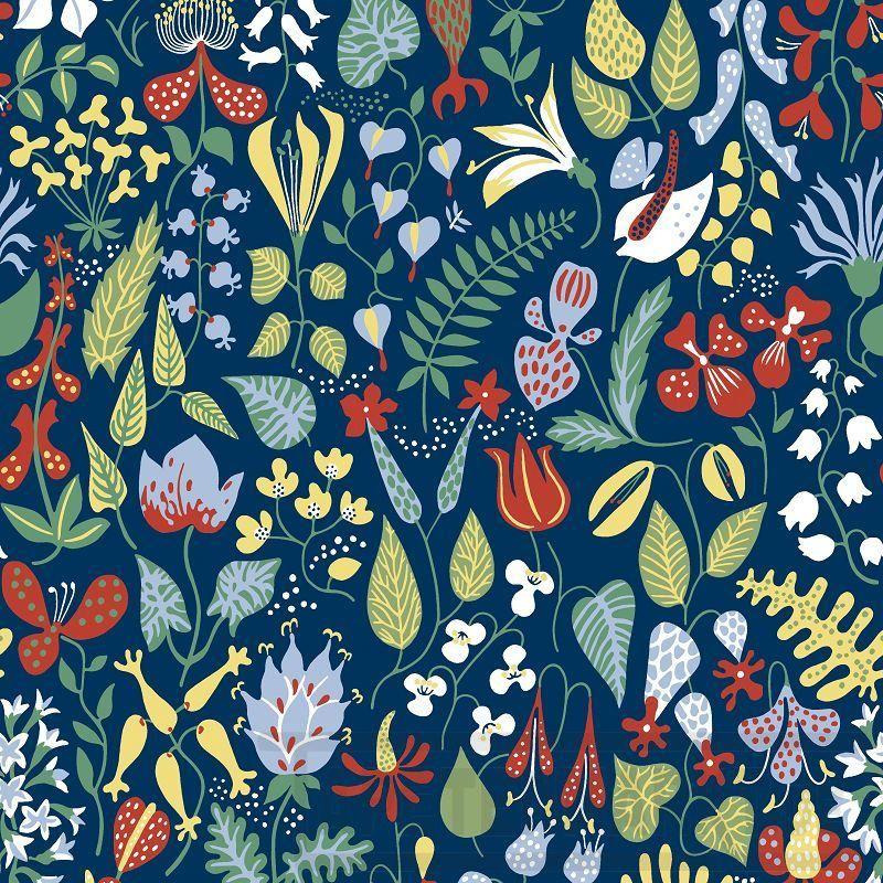 blumentapeten jetzt g nstig kaufen bei tapetenmarkt herbarium stig lindberg. Black Bedroom Furniture Sets. Home Design Ideas
