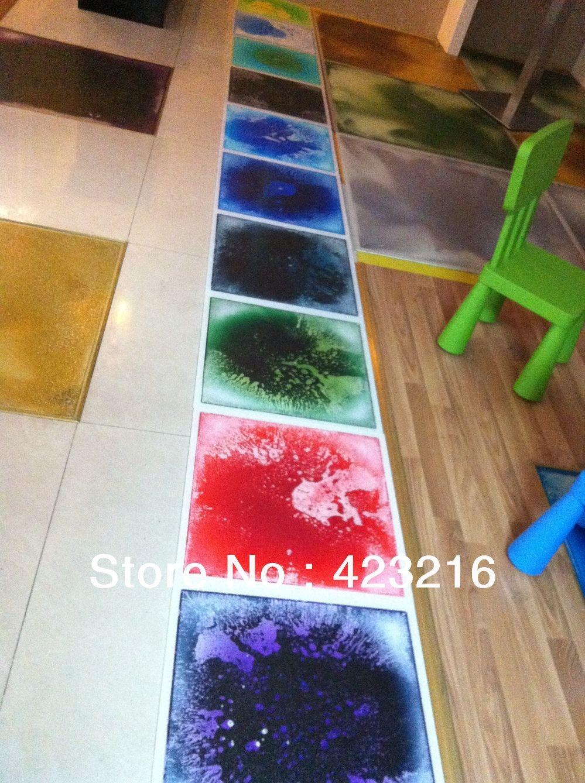 Liquid Fluid Motion Modern Creative Floor Tiles Flowing Liquid
