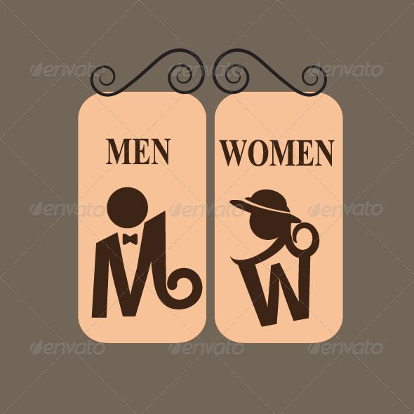 Toilet Sign People Characters Bathroom Signs Pinterest