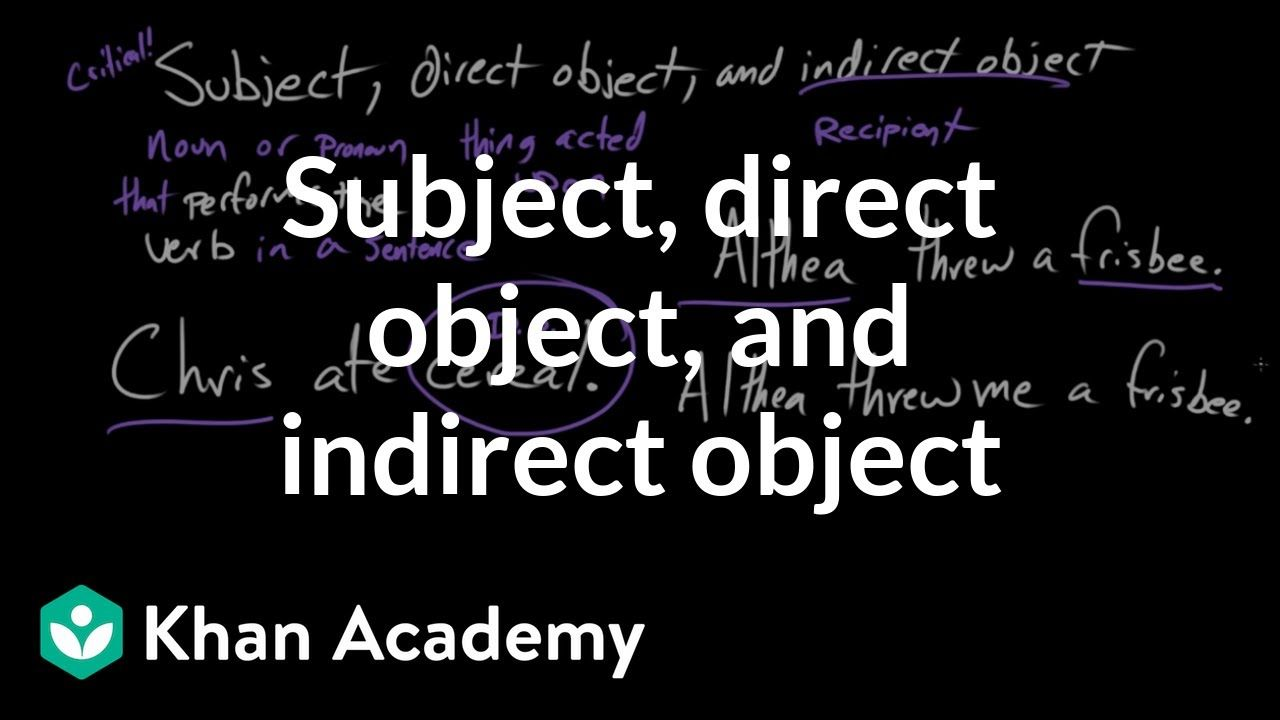 Subject Direct Object And Indirect Object Syntax Khan Academy Grammar Worksheets Online Homeschool Programs Nouns [ 720 x 1280 Pixel ]