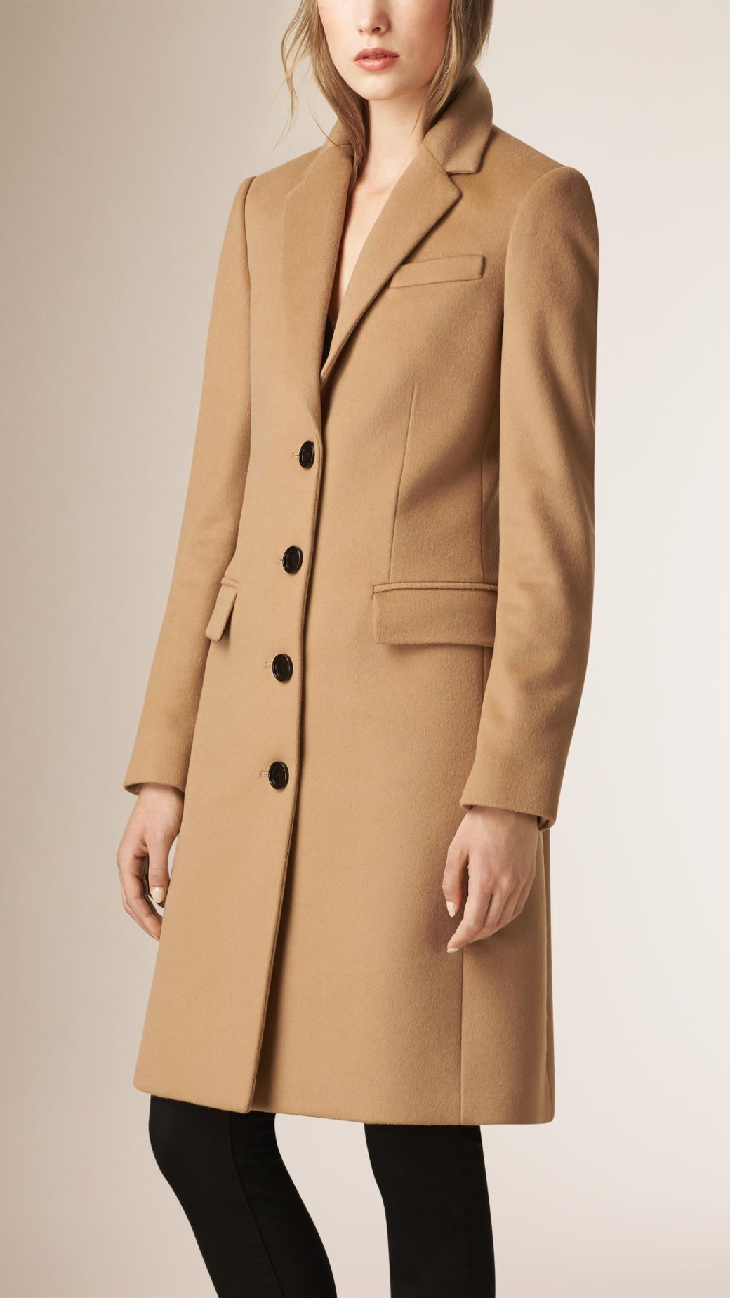 21d4e0d1f36 Tailored Wool Cashmere Coat Camel