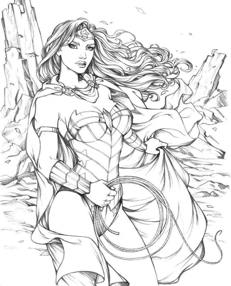 Download Coloring Pages Wonder Woman Coloring Pages Wonder Woman