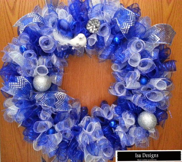 Zeta Phi Beta blue and White Wreath