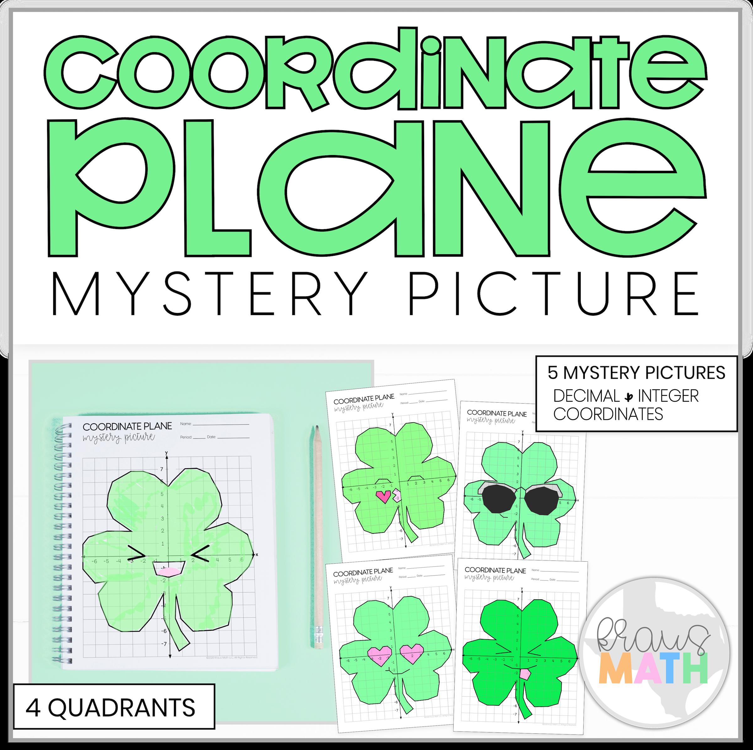 St Patrick S Day Shamrock Emoji Bundle Coordinate Plane