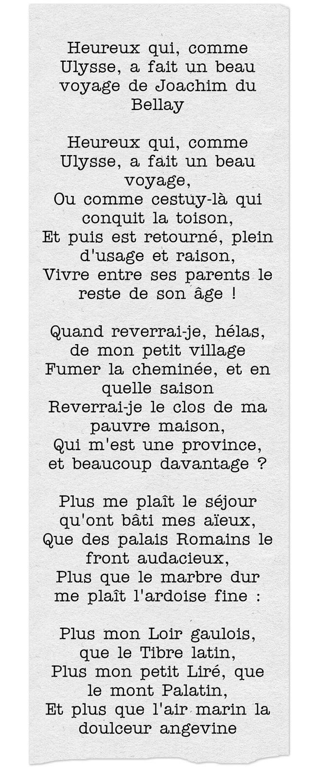 Heureux Qui Comme Ulysse Texte : heureux, comme, ulysse, texte, Heureux, Comme, Ulysse...Joachim, Bellay, Poeme,, Texte,, Poesie