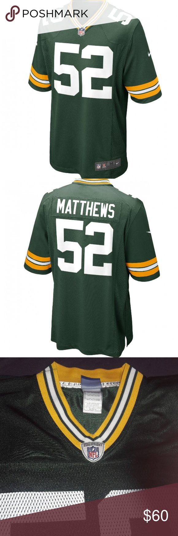 Green Bay Packers Home Men S Jersey 52 Green Bay Packers Jersey Clothes Design