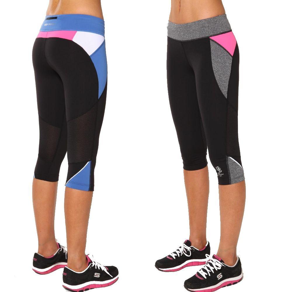 8f80db3ffac0c Ladies Gym Clothes Running Pants 3 4 Exercise Tights Leggings Womens  Sportwear | eBay