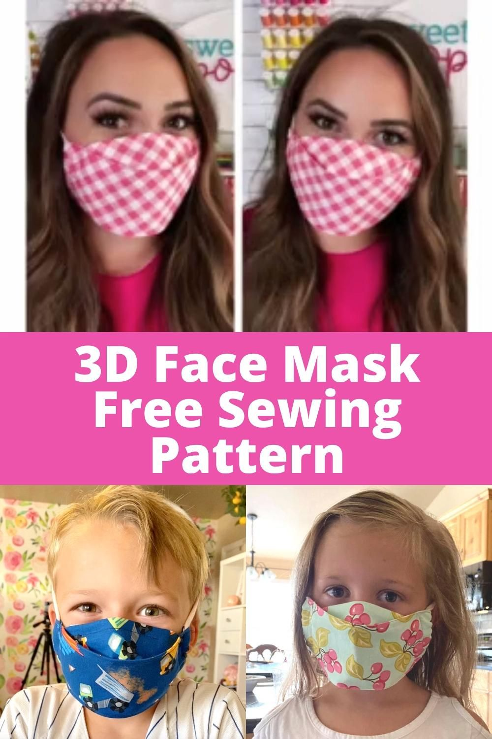 FREE Sewing Pattern for 3D Face Mask – DİKİŞ
